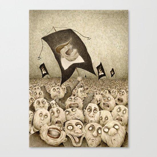 The Triumph of Darkness (Dark Retro) Canvas Print