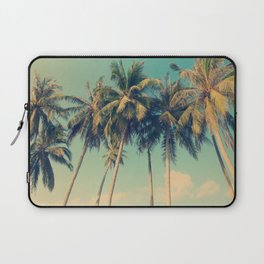 Aloha! Retro palm tree on the beach - summer vibes vintage illustration Laptop Sleeve