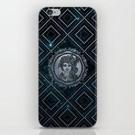 Virgo Zodiac Silver Embossed on the Star sky iPhone Skin