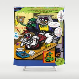 Bird of Steel Comix - Page #5 of 8 (Society 6 POP-ART COLLECTION SERIES)  Shower Curtain