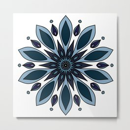 Blue knapweed flower Metal Print