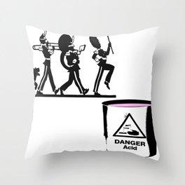 Bandt-Acid  Throw Pillow