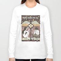 cannabis Long Sleeve T-shirts featuring Cannabis, Art Deco by Susan Szecsi