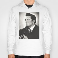 johnny cash Hoodies featuring Johnny Cash by bellevuetriangle