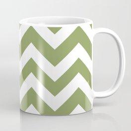 Moss green - green color - Zigzag Chevron Pattern Coffee Mug