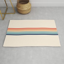 Palawa - Classic Colorful 70s Vintage Summer Style Retro Stripes Rug