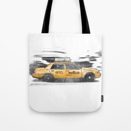 New York Taxi Tote Bag