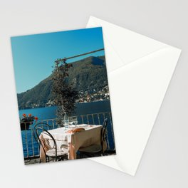 Lunch on the lake Stationery Cards