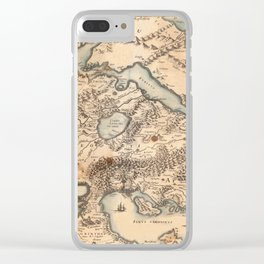 Map Of Greece 1630 Clear iPhone Case