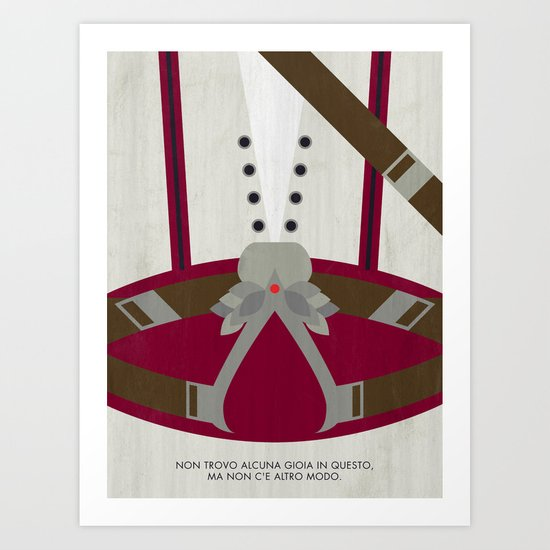Video Game Poster: Assassin Art Print