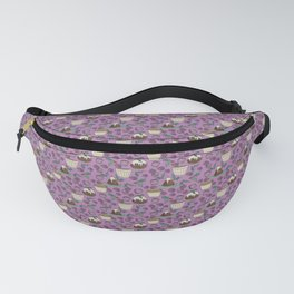 Figgy Plum Pudding Christmas Dessert Purple Repeat Fanny Pack