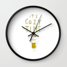 it's cozy time Wall Clock
