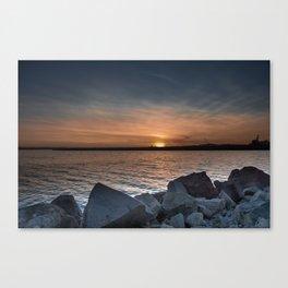 Glowing Sea Canvas Print