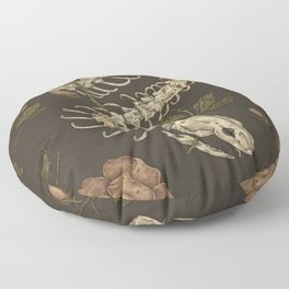 Snake Skeleton Floor Pillow