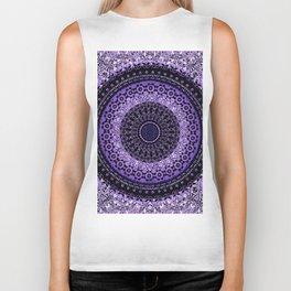 Purple Tapestry Mandala Biker Tank