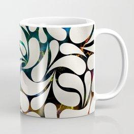 Cream Platinum / Silver Paisley pattern Coffee Mug