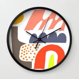 Abstrakte Formen 002 Wall Clock