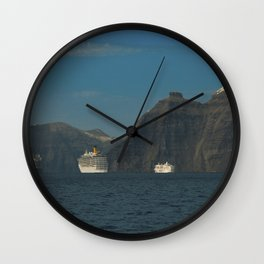 Santorini, Greece 5 Wall Clock