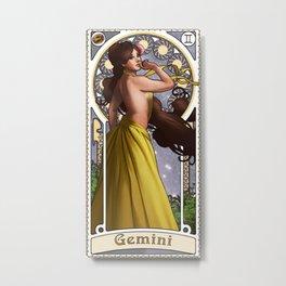 Zodiac Art Show - Gemini Metal Print