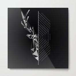 GEO DEER Metal Print