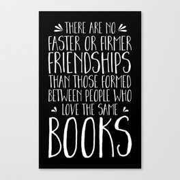 Bookish Friendship (inverted) Canvas Print