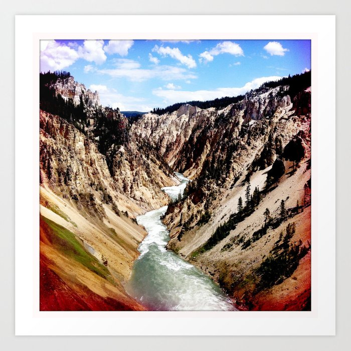 yellowstone river Art Print