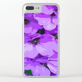Lupins are lilac Clear iPhone Case
