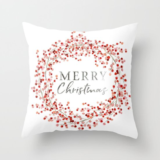 Merry Christmas wreath. Red berry by ojardin
