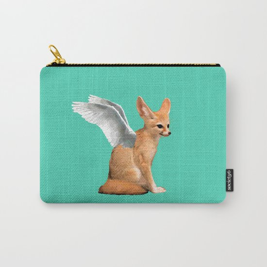 Winged Fennec Fox Carry-All Pouch