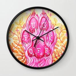 F**k off Paw Wall Clock