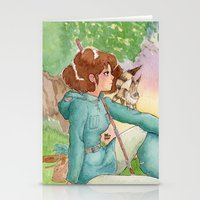 nausicaa Stationery Cards featuring Nausicaa of the Valley of the wind by Adriana Rodriguez Art