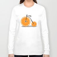 threadless Long Sleeve T-shirts featuring Vitamin by Florent Bodart / Speakerine