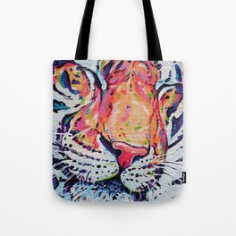 A moment of peace - Tiger painting Tote Bag