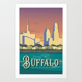 city of good neighbors (buffalo) Art Print