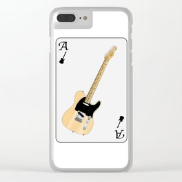 Electric Guitar Playing Card Clear iPhone Case