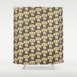 Shorthaired Cream Dachshund Shower Curtain