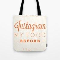 instagram Tote Bags featuring Instagram by PaulWorm