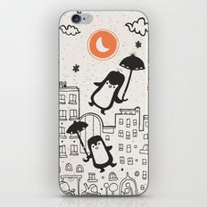 The Penguins into moonlight iPhone Skin