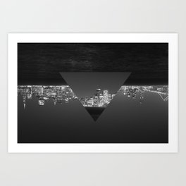 SF upside down Art Print