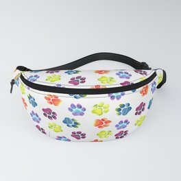 Rainbow Paw Print Pattern Fanny Pack