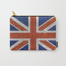 England Flag Vivid Grunge Style Carry-All Pouch