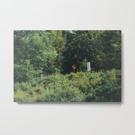 Directions in a forest Metal Print