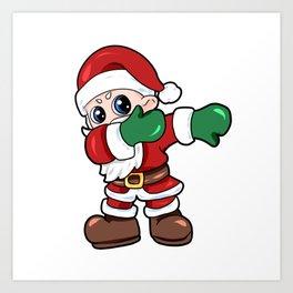 santa dab christmas Nicholas Santa Claus Present Gift Art Print