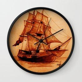Interceptor Ship Sketch Wall Clock