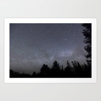 milky way Art Prints featuring milky way  by jon hamblin