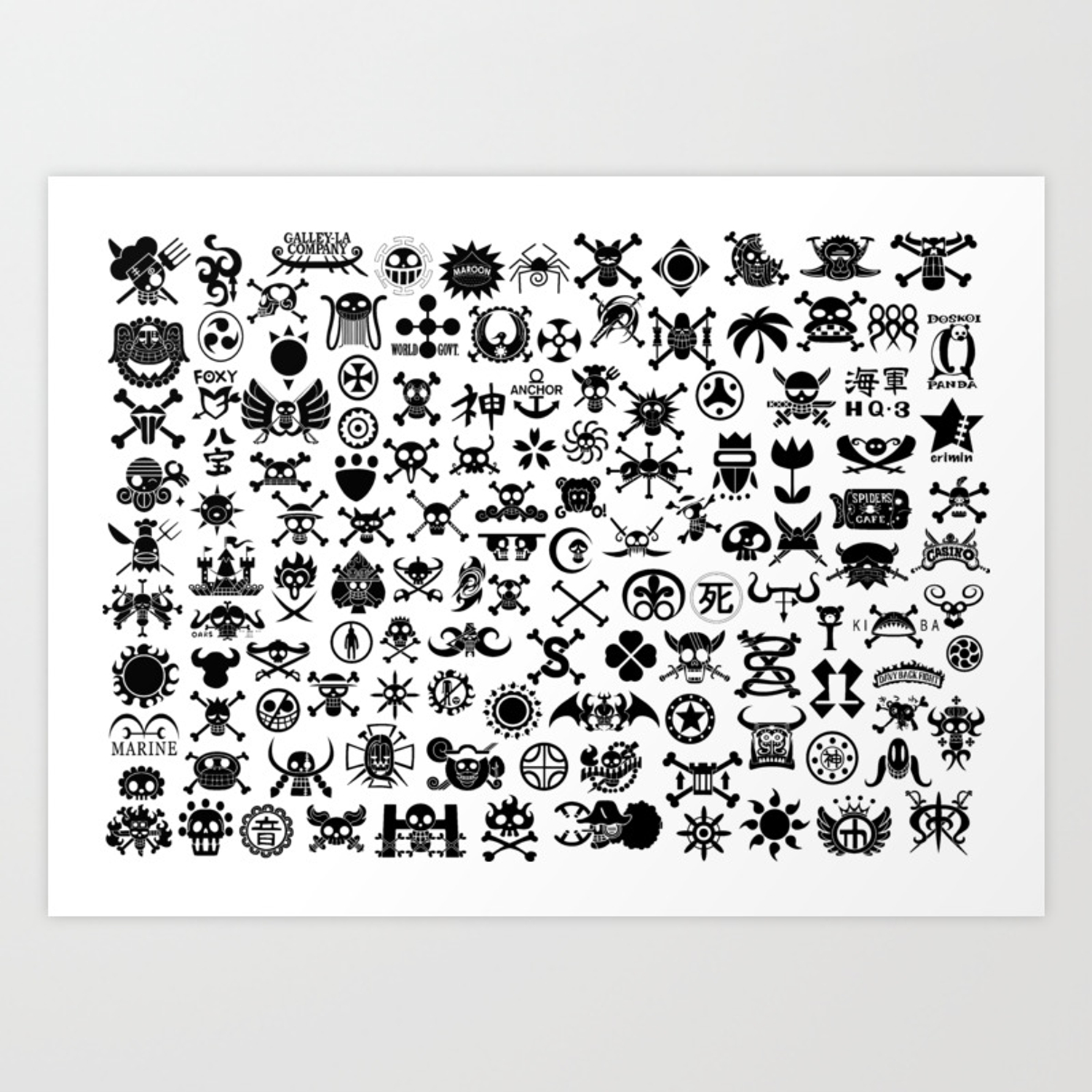 One Piece Jolly Roger Art Print By Onepiecechibiproject Society6