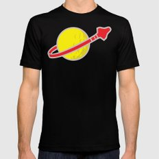 Lego Space Mens Fitted Tee LARGE Black