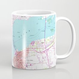Punta Gorda & Port Charlotte Florida Map (1957) Coffee Mug