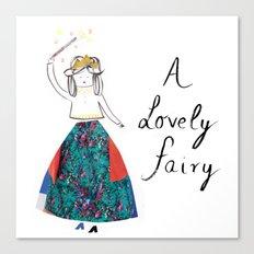 A Lovely Fairy Canvas Print