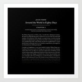 Around the world in 80 days Art Print